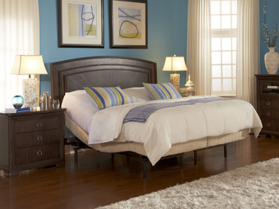 Electric adjustable bed in master bedroom