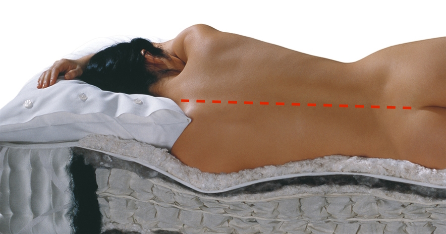 vispring-nude-side sleeper-alignment- RED_LINE